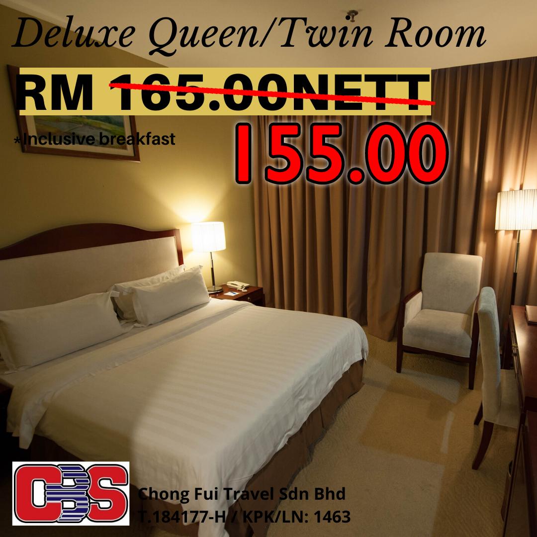 DELUXE QUEEN/TWIN ROOM W/ BREAKFAST (GAYA CENTRE HOTEL)