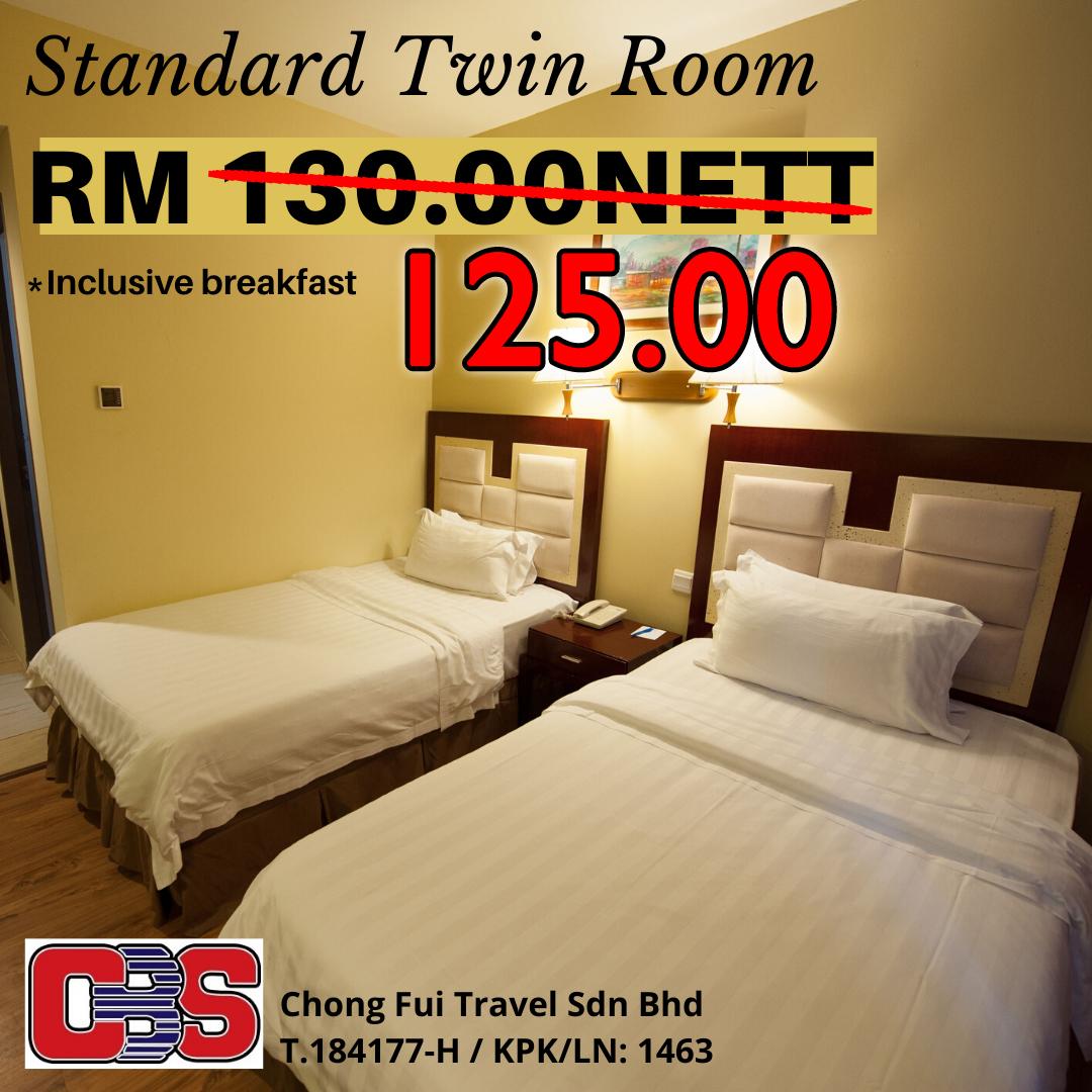 STANDARD TWIN ROOM W/ BREAKFAST (GAYA CENTRE HOTEL)